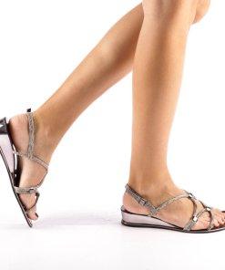 Sandale dama Eliza gri inchis
