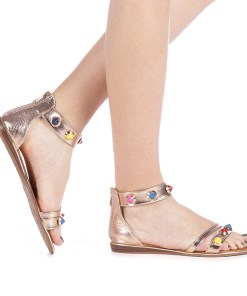 Sandale dama Darina champanie