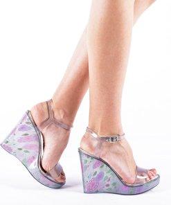 Sandale dama cu platforma Goul gri