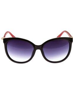 Ochelari de soare dama P5089C2 negru cu rosu toc protectie