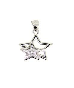 Pandantiv stea cu zirconii albe, din Argint 925 rodiat