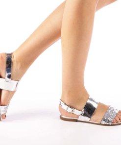 Sandale dama Kavindra argintii