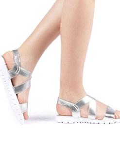 Sandale dama Klasimo argintii
