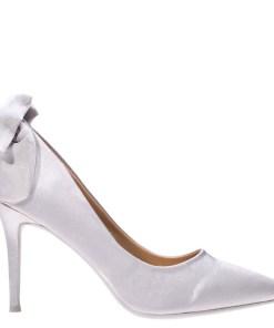 Pantofi cu toc Karina argintii
