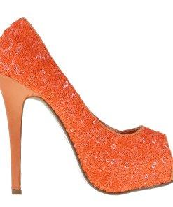 Pantofi dama Katia portocalii