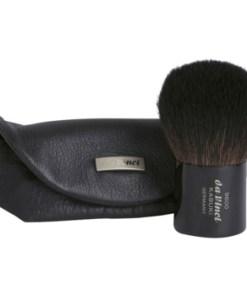 da Vinci Kabuki pensula pentru aplicarea pudrei geanta din piele DAVKABW_KBRU10