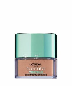 Fond de ten mineral L'Oreal Paris True Match Minerals cu acoperire lejera 6N Honey, 10 g