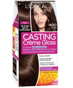 Vopsea de par semi-permanenta fara amoniac L'Oreal Paris Casting Creme Gloss 400 saten, 180 ml