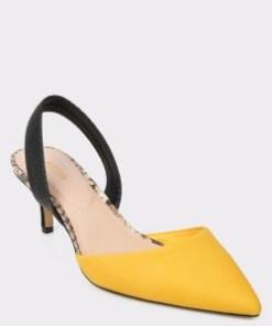 Pantofi ALDO galbeni, Lovorelle, din material textil