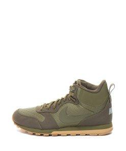 Pantofi sport mid-high din piele ecologica si panza Md Runner 2