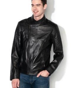 Jacheta de piele - cu fermoar