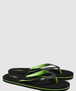 Papuci flip flop cu detaliu logo