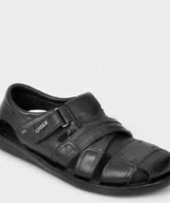 Sandale OTTER negre, 17400, din piele naturala