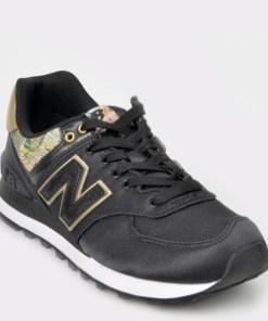 Pantofi sport NEW BALANCE negri, Wl574, din material textil