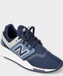 Pantofi sport NEW BALANCE bleumarin, Ws247, din piele ecologica