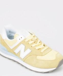 Pantofi sport NEW BALANCE galbeni, Wl574, din material textil