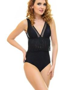 Costum De Baie Fancy Black