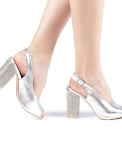 Sandale dama Aidin argintii