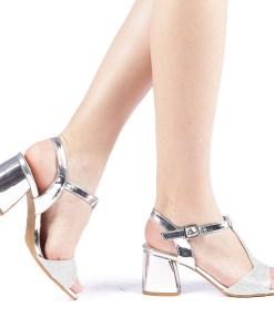 Sandale dama Cecilia argintii
