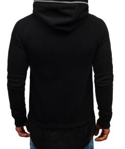 Bluza pentru barbat cu gluga neagra Bolf 200