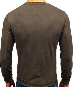Bluza pentru barbat fara gluga verde Bolf 9079