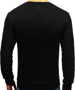 Bluza pentru barbat fara gluga neagra Bolf 9079