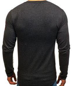 Bluza pentru barbat fara gluga cu imprimeu gri-deschis Bolf 0738