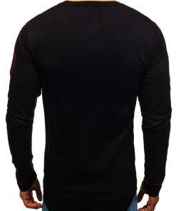 Bluza pentru barbat fara gluga cu imprimeu neagra Bolf 0738