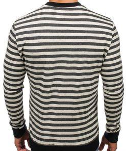 Bluza fara gluga cu imprimeu pentru barbat neagra Bolf 71