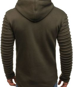 Bluza cu gluga pentru barbat kaki Bolf 6010