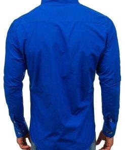 Camasa cu maneca lunga pentru barbat albastru-cobalt Bolf 5720