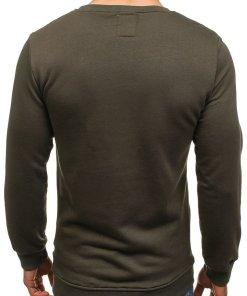 Bluza fara gluga cu imprimeu pentru barbat kaki Bolf 9102