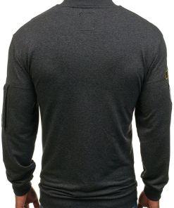 Bluza fara gluga pentru barbat gri-antracit Bolf 0736