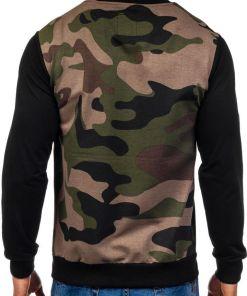 Bluza pentru barbat fara gluga moro verde-negru Bolf 0841