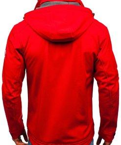 Geaca softshell pentru barbat rosie Bolf 004a