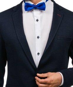 Papion elegant pentru barbat albastru-aprins Bolf M001