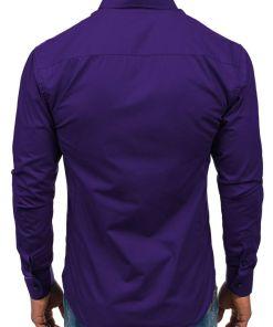 Camasa eleganta pentru barbat cu maneca lunga violet Bolf 1703
