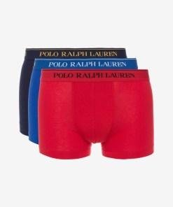 Polo Ralph Lauren Boxeri, 3 bucăți pentru Bărbați - 82016 - culoarea Albastru Roșu