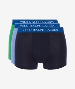 Polo Ralph Lauren Boxeri, 3 bucăți pentru Bărbați - 82021 - culoarea Albastru Verde