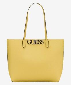 Guess - Uptown Chic Barcelona Genți pentru Femei - 83659 - culoarea Galben