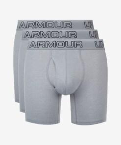 """Under Armour Charged Cotton® Stretch 6"""" Boxeri, 3 bucăți pentru Bărbați - 74913 - culoarea Gri"""