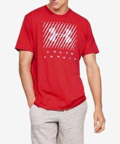 Under Armour Branded Big Logo Tricou pentru Bărbați - 82615 - culoarea Roșu
