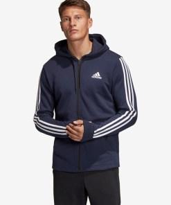 adidas Performance Must Haves 3-Stripes Hanorac pentru Bărbați - 90693 - culoarea Albastru