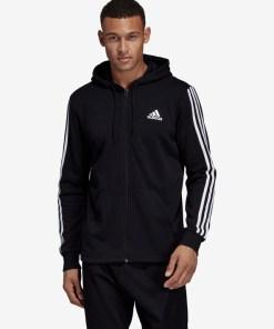 adidas Performance Must Haves 3-Stripes Hanorac pentru Bărbați - 90694 - culoarea Negru