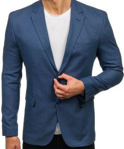 Sacou elegant pentru barbat albastru Bolf 1050