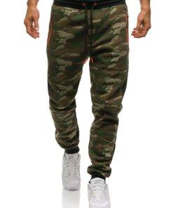 Pantaloni sportivi joggers pentru barbat camuflaj multicolor Bolf 3783B