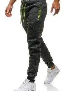 Pantaloni sportivi pentru barbat negri Bolf 1916