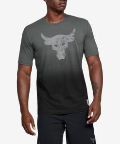 Under Armour Project Rock Bull Graphic Tricou pentru Bărbați - 93748 - culoarea Negru Gri
