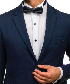 Papion elegant pentru barbat albastru-cerneala-rosu Bolf M030