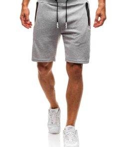 Pantaloni scurti sportivi pentru barbat gri Bolf A9602